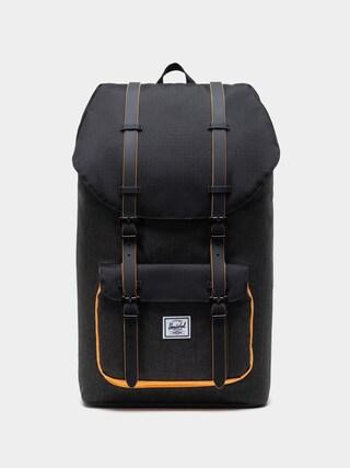Herschel Supply Co. Little America Backpack (black crosshatch/black/blazing orange)