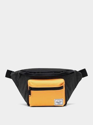 Herschel Supply Co. Seventeen Bum bag (black crosshatch/black/blazing orange)