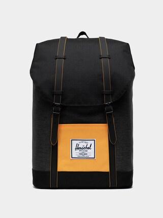 Herschel Supply Co. Retreat Backpack (black crosshatch/black/blazing orange)
