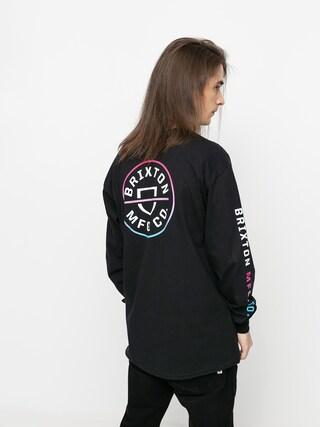 Brixton Crest Stt Longsleeve (black/light blue/pink)