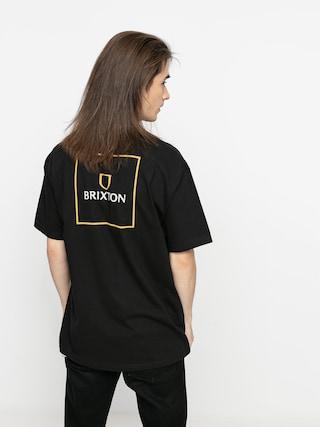 Brixton Alpha Square Stt T-shirt (black/lemon curry)