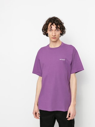 Carhartt WIP Script Embroidery T-shirt (aster/white)