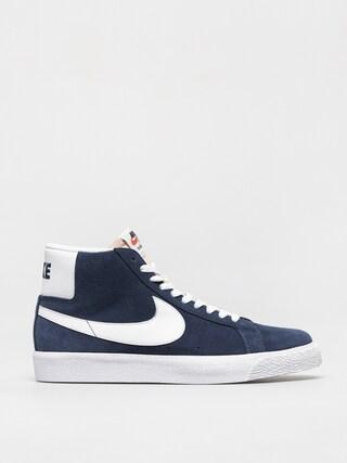 Nike SB Zoom Blazer Mid Shoes (navy/white black university red)