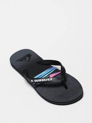 Quiksilver Molokai Hold Down Flip-flops (black/grey/black)