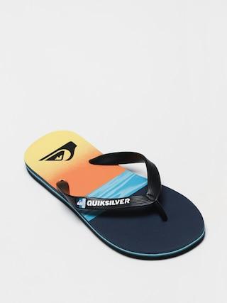 Quiksilver Molokai Hold Down Flip-flops (black/blue/blue)