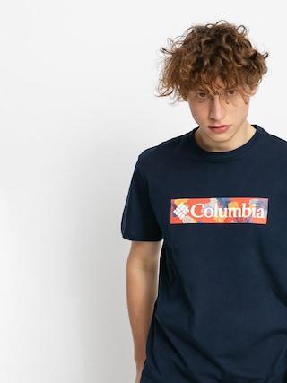 Columbia Rapid Ridge T-shirt (collegiate navy/sky blue framed floral)