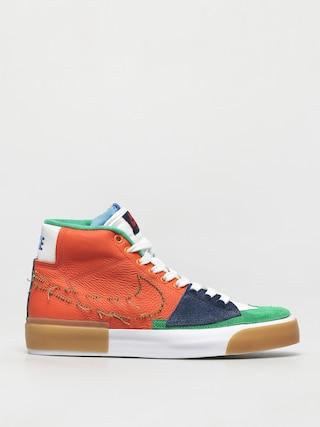 Nike SB Zoom Blazer Mid Edge Shoes (safety orange/lucky green)