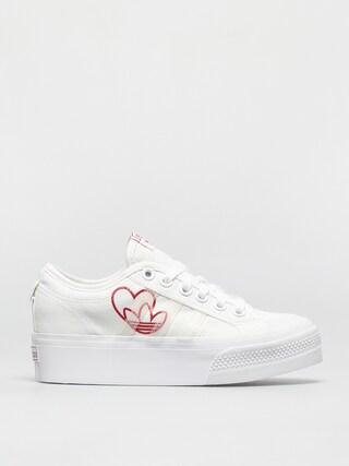 adidas Originals Nizza Platform Shoes Wmn (ftwwht/vivred/gumm2)