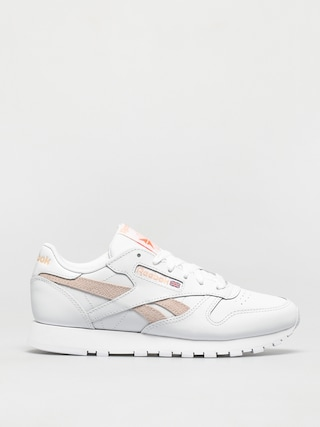 Reebok Cl Lthr Shoes Wmn (white/aurorg/cerpnk)