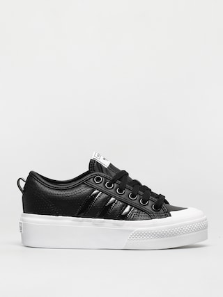 adidas Originals Nizza Platform Shoes Wmn (cblack/cblack/ftwwht)