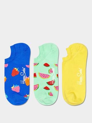 Happy Socks Fruit No Show 3pk Socks (royal/mint/yellow)