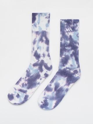 RVCA Tie Dye Crew Socks (blue)