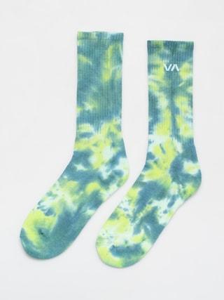 RVCA Tie Dye Crew Socks (green)