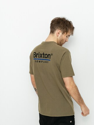 Brixton Palmer Line Stt T-shirt (worn wash military olive)
