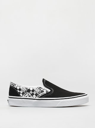 Vans Classic Slip On Shoes (off the wall black/asphalt)