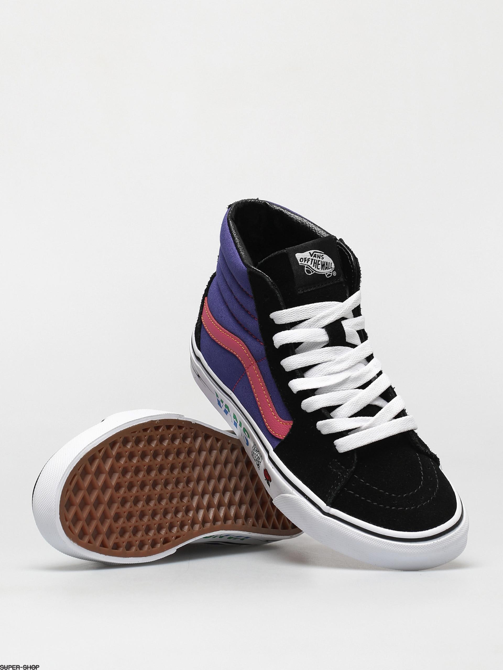 Vans Sk8 Hi Shoes (disruptive black/spectrum blue)