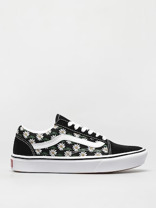 Vans Comfycush Old Skool Shoes (scribble flower daisy/black)