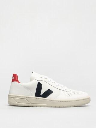 Veja V-10 Shoes (leather extra white nautico pekin)