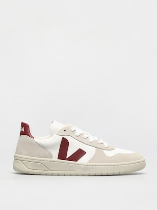 Veja V-10 Shoes (b mesh white marsala)