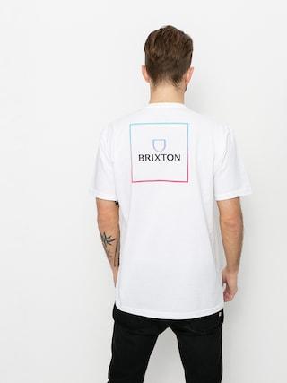 Brixton Alpha Square Stt T-shirt (white/light blue/pink)