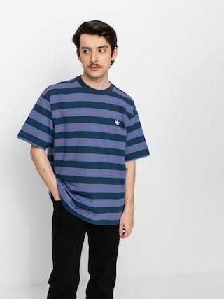 adidas Yarn Dye T-shirt (crenav/creblu/vivred)