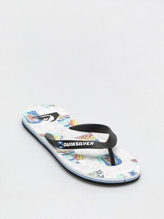 Quiksilver Molokai Island Pulse Flip-flops (black/white/black)