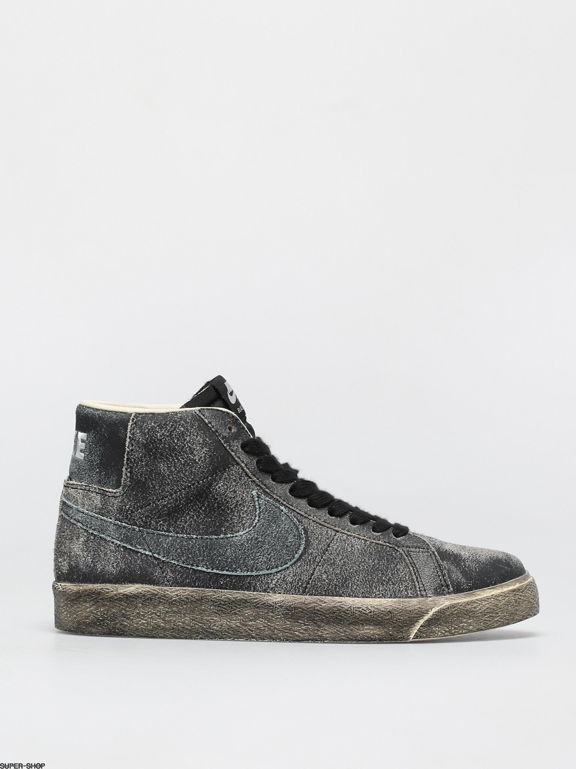 Nike SB Zoom Blazer Mid Premium Shoes (black/light dew coconut milk light dew)
