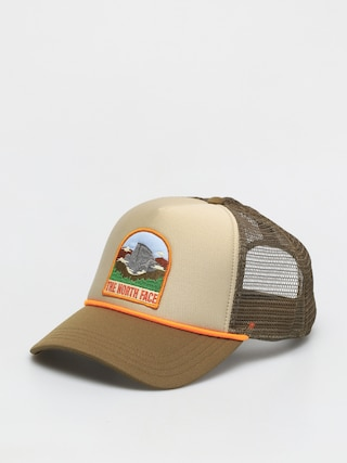 The North Face Valley Trucker ZD Cap (twill beige/military olive-flame)