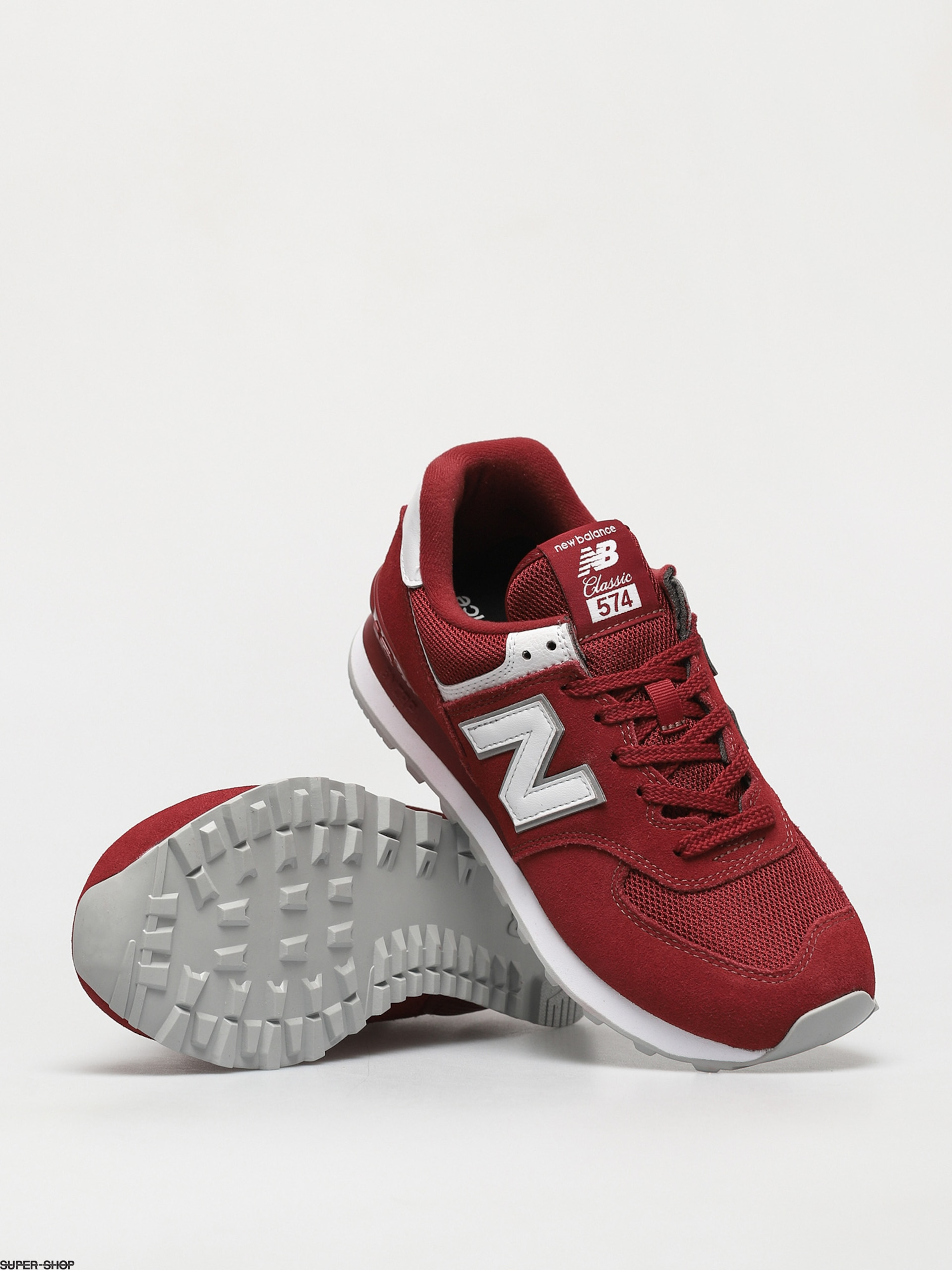 New Balance 574 Shoes (scarlet)