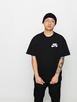 Nike SB Left Chest Script T-shirt (black/white)
