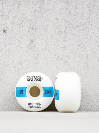 Bones Og Formula V4 Wide 100A Wheels (white/blue)