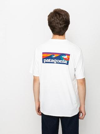 Patagonia Cap Cool Daily Graphic T-shirt (boardshort logo/white)