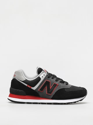 New Balance 574 Shoes (black/red)