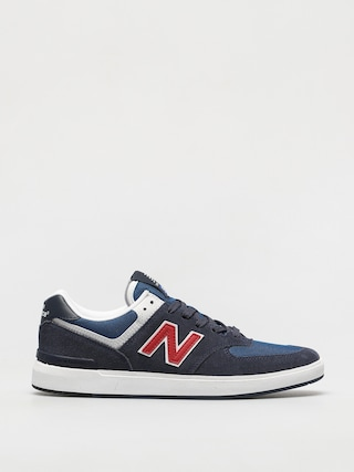 New Balance All Coasts 574 Shoes (navy/red)