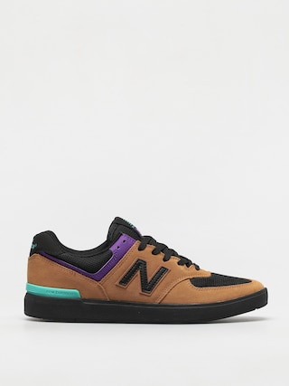New Balance All Coasts 574 Shoes (brown/black)