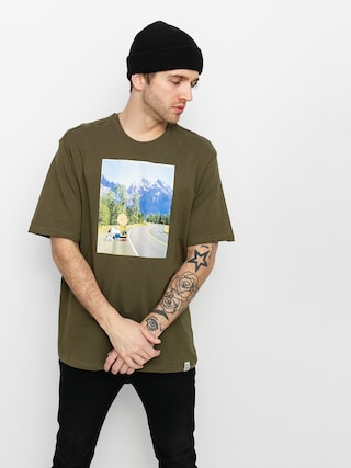 Element Peanuts Adventure T-shirt (army)