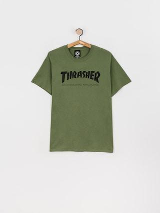 Thrasher T-shirt Skate Mag (military green)