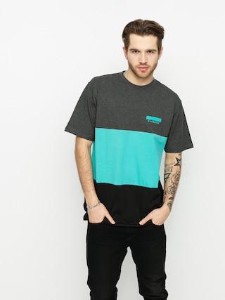 MassDnm Zone T-shirt (dk heather/turquoise/black)