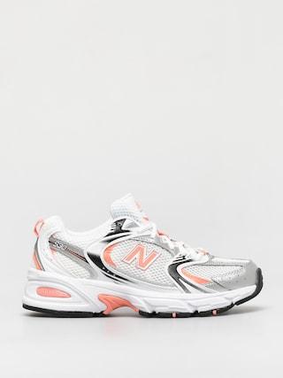New Balance 530 Shoes (munsell white/paradise pink)