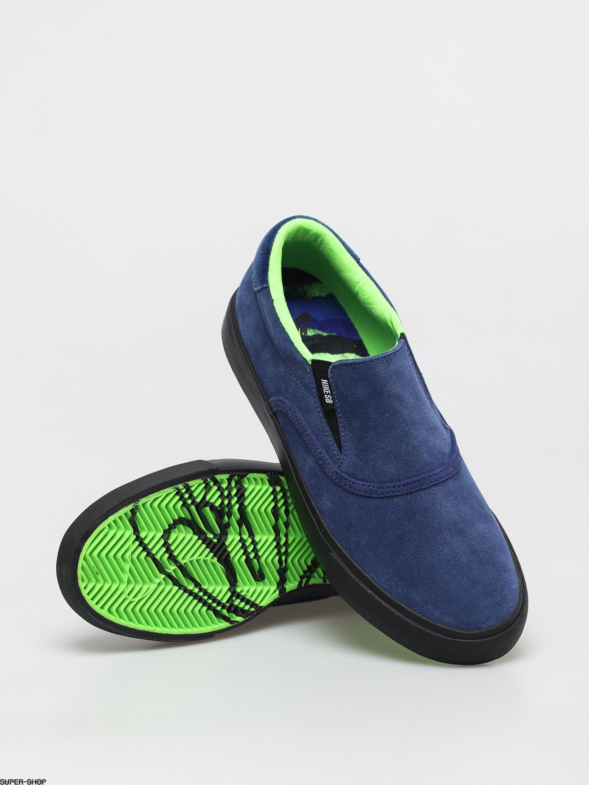 Nike SB X Glue Zoom Verona Slip Shoes (blue void/black blue void electric green)