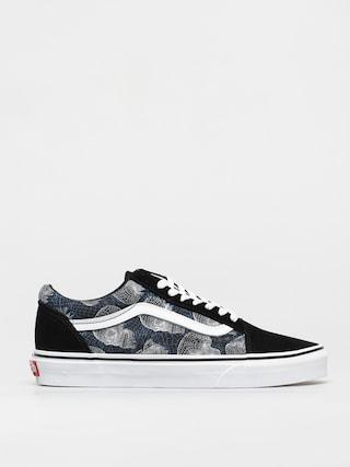 Vans Old Skool Shoes (wireframe skulls/blktrwt)