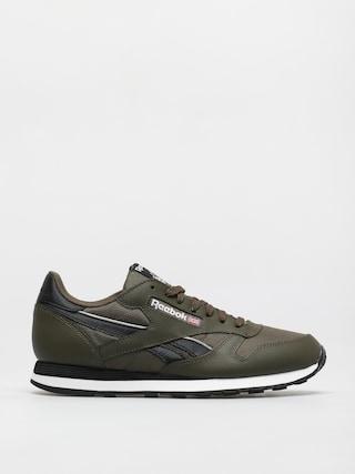 Reebok Cl Lthr Shoes (armygr/cblack/ftwwht)