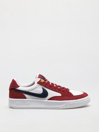 Nike SB Adversary Shoes (pomegranate/midnight navy pollen white)