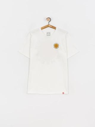 Spitfire Classic 87 Swirl T-shirt (white w/brown orange prints)