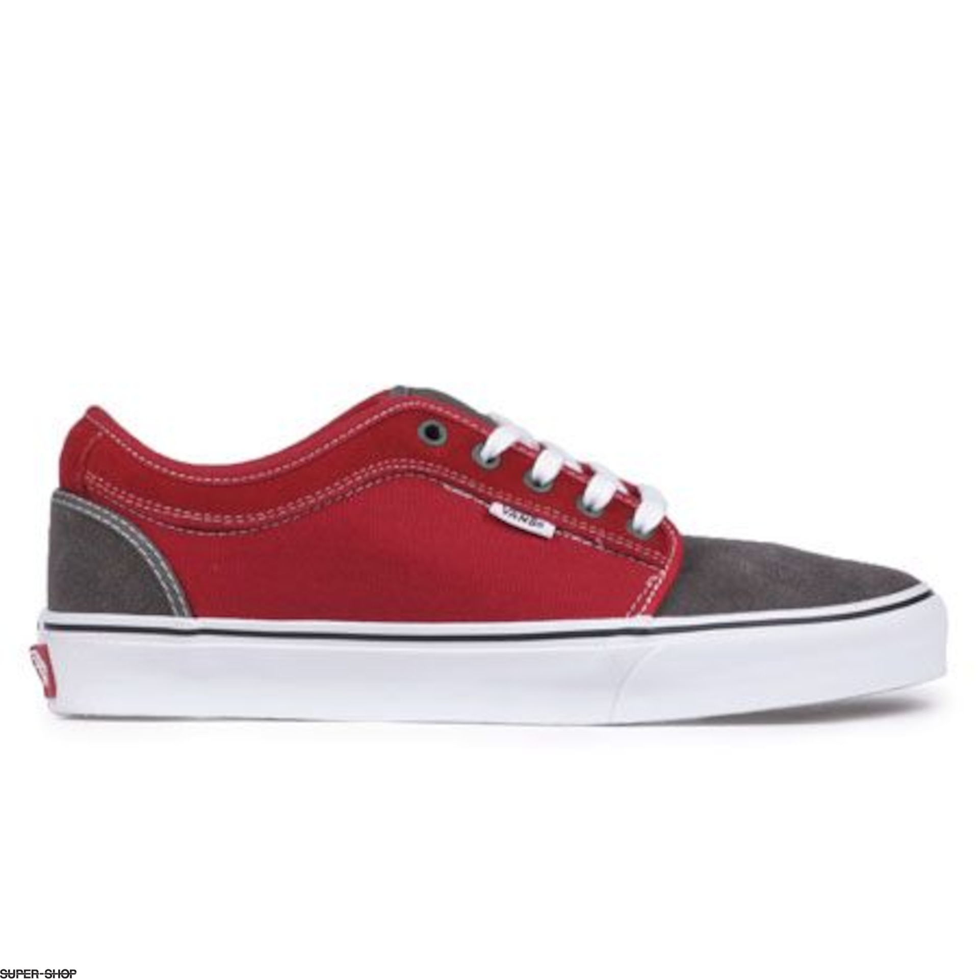 grey and red vans