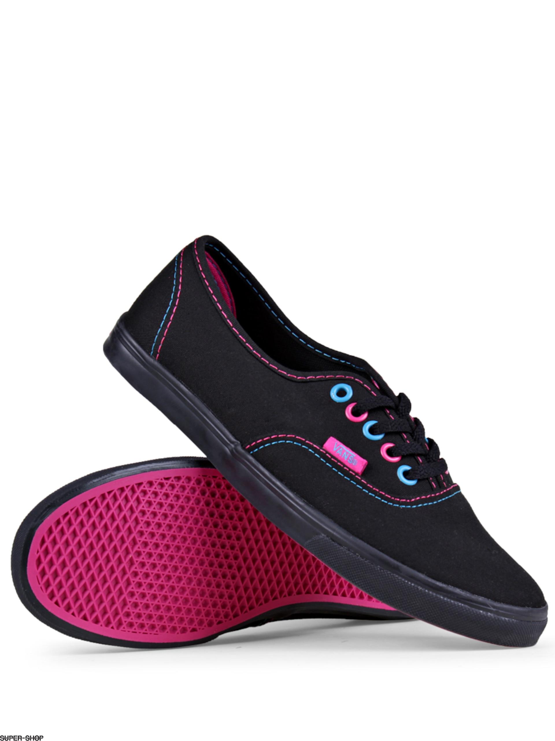 0ea3ae03aaee03 Vans Shoes Authentic Lo Pro (black pink blue)