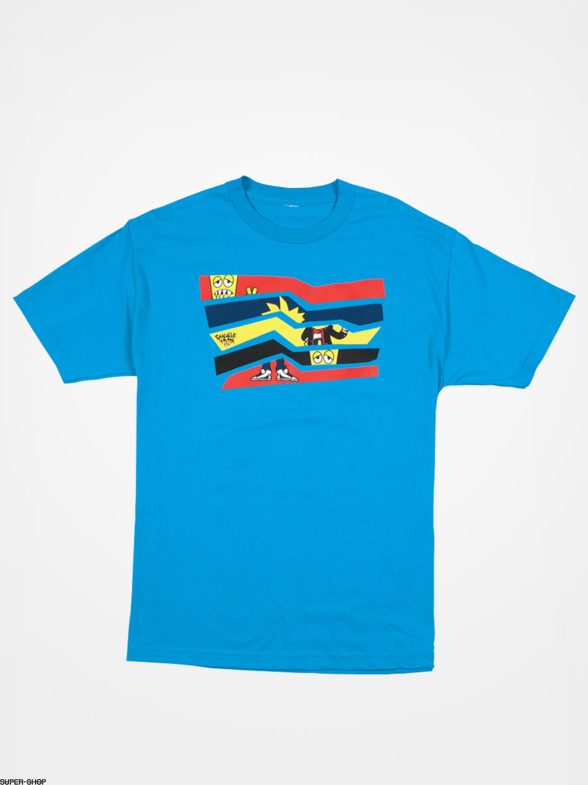 686 T Shirt Snaggletooth Stripe Tur