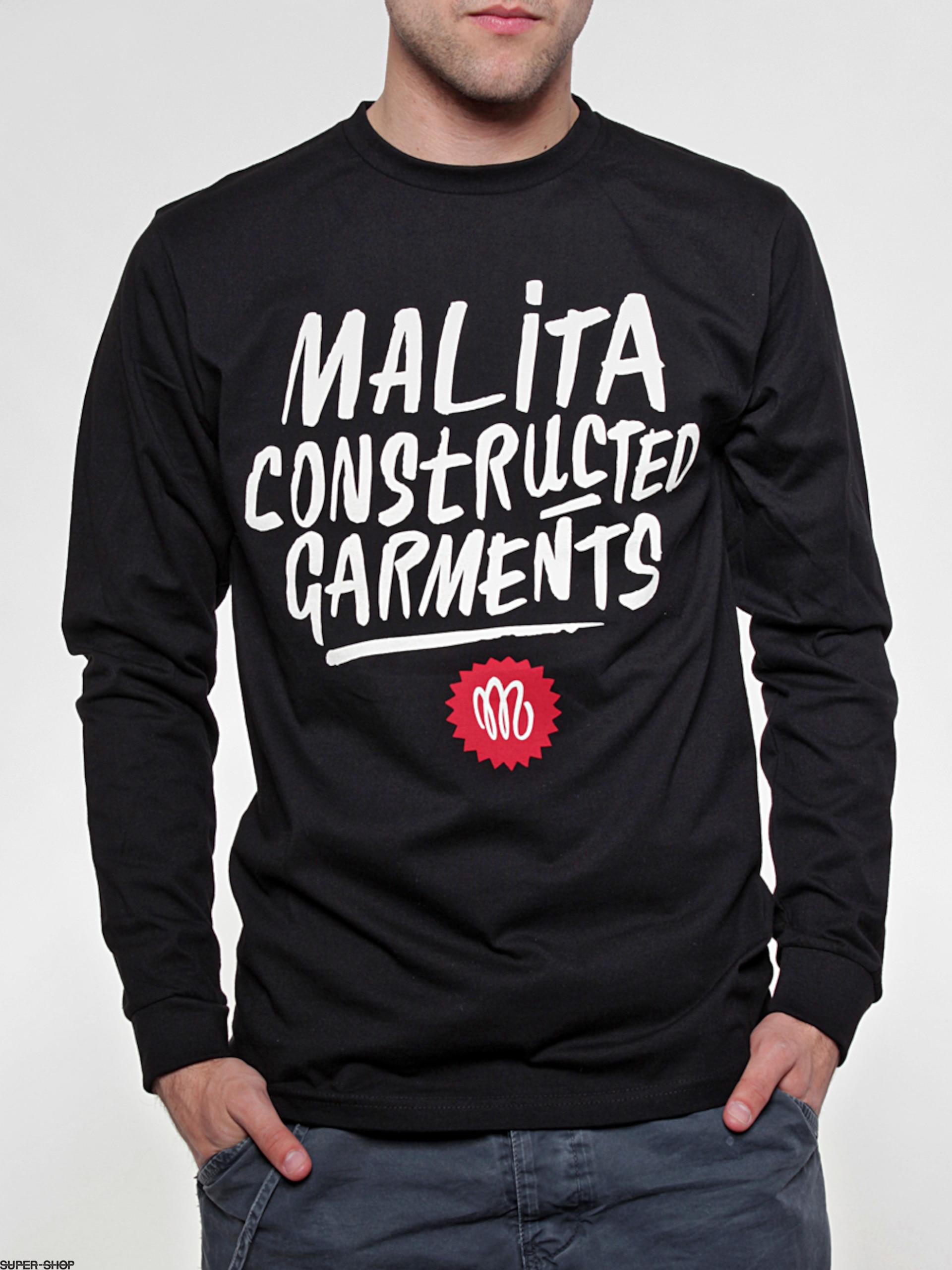 Malita longsleeve Constructed Brush (black)