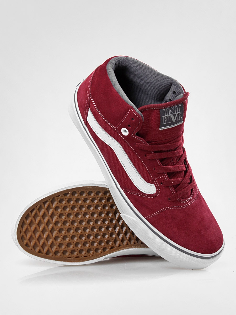 Vans shoes TNT 5 Mid (maroon)