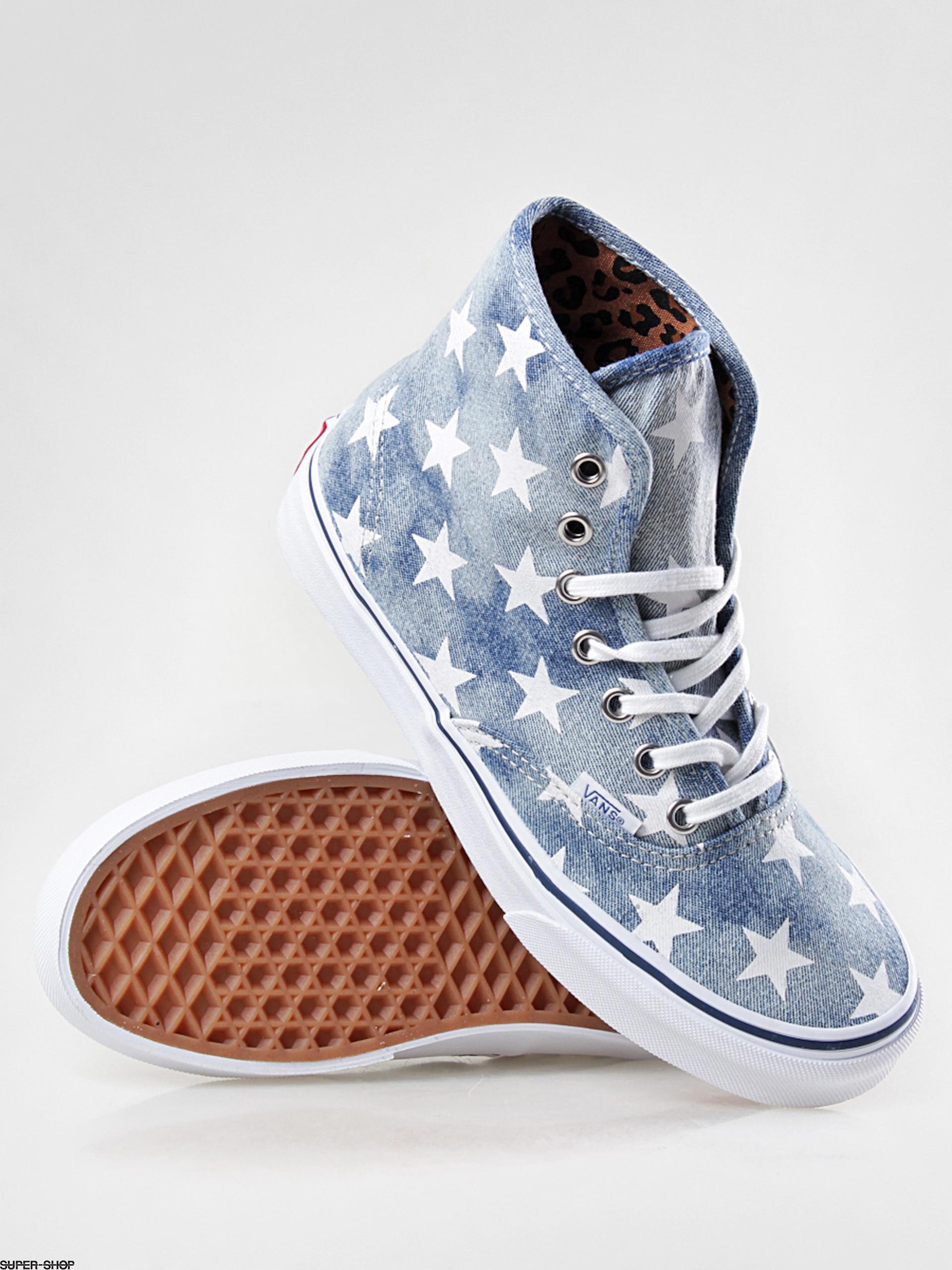 Vans shoes Authentic Hi VRQF7XJ (washed denimbluestars)